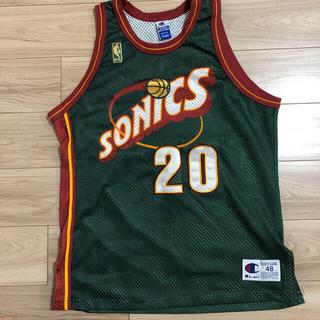 Champion - NBA ソニックス ペイトン ユニフォーム オーセンティック チャンピオン