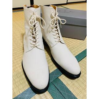 LAD MUSICIAN - ✴︎極美品【LAD MUSICIAN】ホワイトキャンバスコットンロッカーブーツ