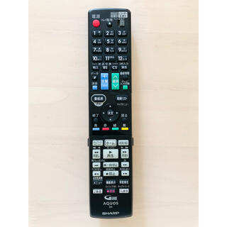 アクオス(AQUOS)のAQUOS  Blu-ray テレビリモコン GB131PA(ブルーレイレコーダー)