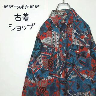 Wrangler - 【90年代】ラングラー 古着 総柄シャツ マルチカラー 菅田将暉 奇抜 モード