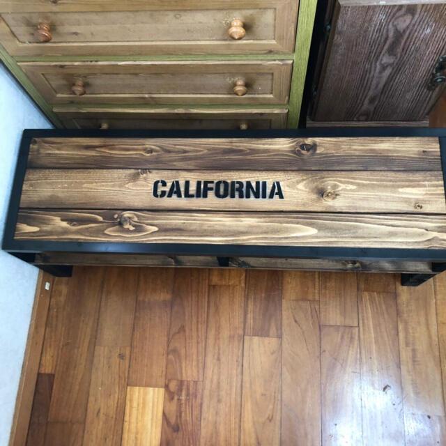 アンティークシンプル木目調センターテーブル  カルフォルニア カフェ風 木製 インテリア/住まい/日用品の机/テーブル(ローテーブル)の商品写真