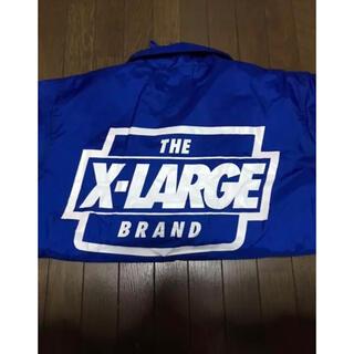 エクストララージ(XLARGE)のXLARGE ナイロンジャケット コーチジャケット 青(ナイロンジャケット)