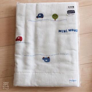 mikihouse - ミキハウス 車柄タオルケット