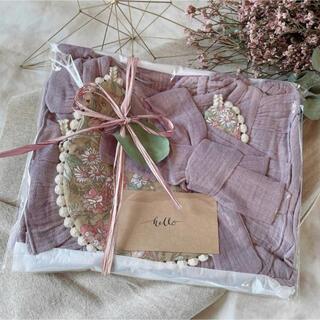 出産祝い ギフト 女の子 セット プレゼント ベビー服 紫フリル ロンパース(その他)