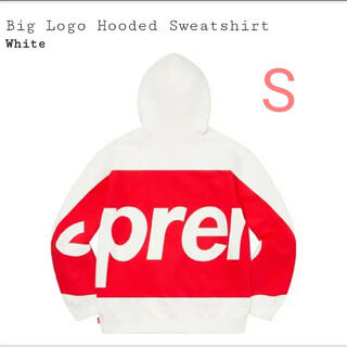 Supreme - Supreme Big Logo Hooded Sweatshirt White
