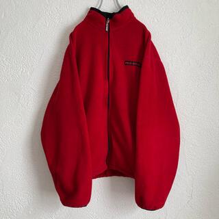 POLO RALPH LAUREN - 90s ポロスポーツ XL ラルフローレン フリース ジャケット 古着 赤