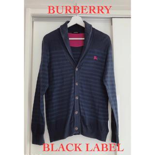 BURBERRY BLACK LABEL - 【バーバリーブラックレーベル】ボーダーカーディガン/ネイビー/サイズ2/M