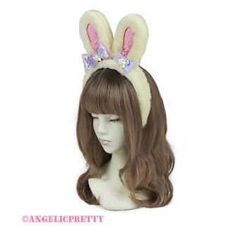 アンジェリックプリティー(Angelic Pretty)のSpring Bunnyカチューシャ イエロー(カチューシャ)
