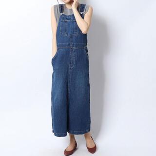 Mila Owen - ミラオーウェン   リネン混デニムジャンパースカート
