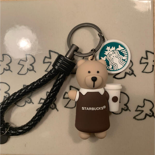 Starbucks Coffee - 日本未発売★海外スターバックスベアリスタ キーホルダー