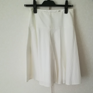 プロポーション(PROPORTION)の白スカート(ひざ丈スカート)