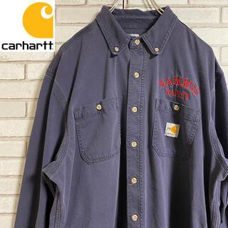 carhartt - 90s 古着 カーハート  BDシャツ 刺繍 ビッグシルエット ゆるだぼ