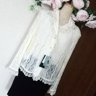 # 新品 タグ付き レースオフホワイトジャケット M(その他)