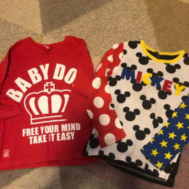 BABYDOLL(ベビードール)の2枚セット ベビードール キッズ/ベビー/マタニティのキッズ服男の子用(90cm~)(Tシャツ/カットソー)の商品写真