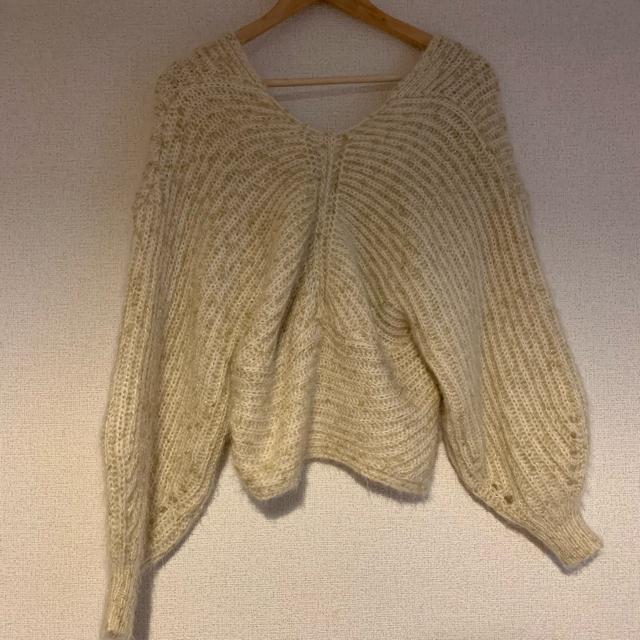 dholic(ディーホリック)のLINK クロスニット レディースのトップス(ニット/セーター)の商品写真