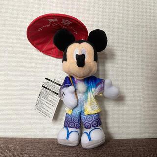 ディズニー(Disney)の新品未使用 タグ付き ♡ ディズニーリゾート 和装 ミッキー ぬいぐるみバッジ(キャラクターグッズ)