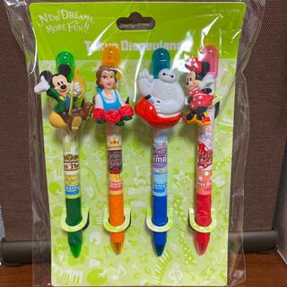 ディズニー(Disney)の新品未使用 ♡ ディズニーリゾート 新エリア ボールペン 4本セット(キャラクターグッズ)