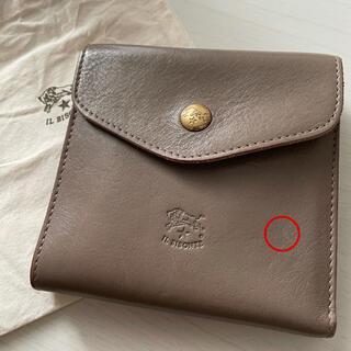 IL BISONTE - ILBISONTE(イルビゾンテ) 二つ折り財布 グレー コンパクトウォレット