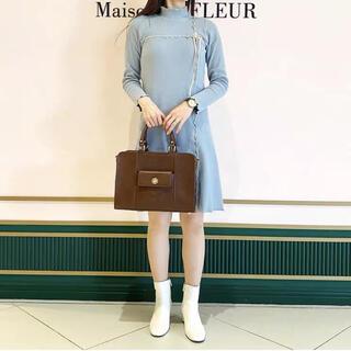 メゾンドフルール(Maison de FLEUR)の神田沙也加 canone 【2021春楽章】コレットのガーデンワンピ SAX(ひざ丈ワンピース)