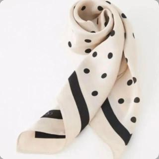 rienda - リエンダ スカーフ ドット エクリュ