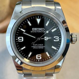 SEIKO - SEIKO NH35搭載 カスタム 腕時計 MOD エクスプローラー タイプ