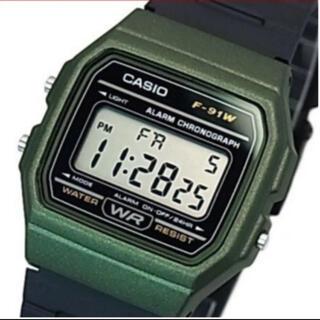 カシオ(CASIO)のCASIO チープカシオ カーキ F-91WM-3ACF 海外生産モデル(腕時計(デジタル))