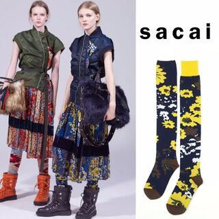 sacai - sacai サカイ  Floral Socks 18-04008 ハイソックス