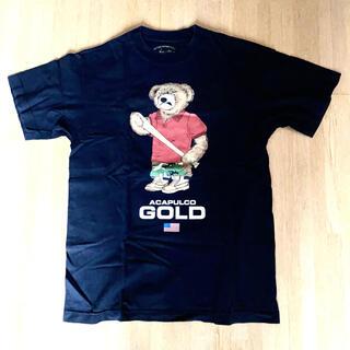アカプルコゴールド(ACAPULCO GOLD)のacapulco gold 黒 クマ Tシャツ(Tシャツ/カットソー(半袖/袖なし))
