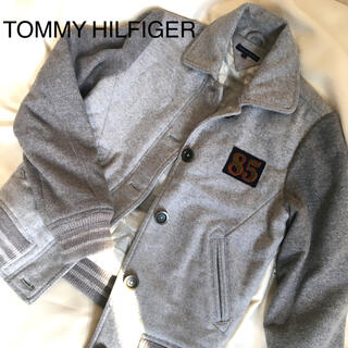 TOMMY HILFIGER - トミー  ヒルフィガー★スタジャン★グレイ灰色グレーギンガムチェックレディースS