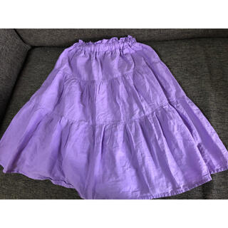 GU - GU  紫 フレアスカート