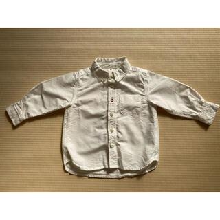 MUJI (無印良品) - 無印 キッズ 白シャツ 80