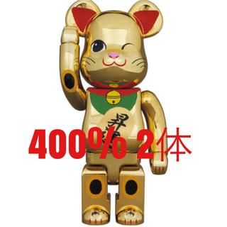 MEDICOM TOY -  BE@RBRICK 招き猫 金運 金メッキ 400% 2体