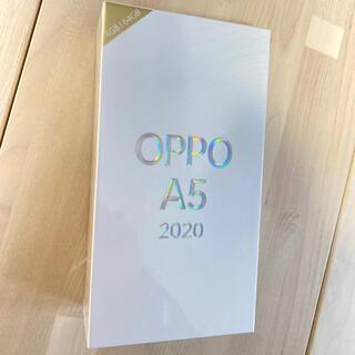 オッポ(OPPO)のOPPO A5 2020 本体 ブルー 新品未開封(携帯電話本体)