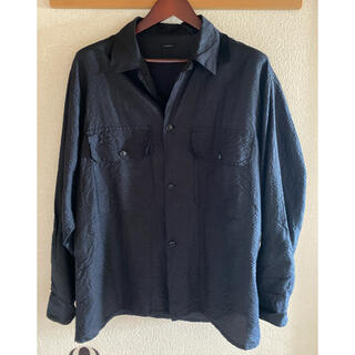 COMOLI - comoli シルクサッカーシャツ
