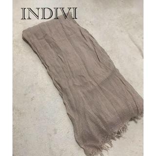 INDIVI - インディヴィ スカーフ 美品