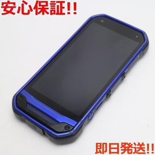 キョウセラ(京セラ)の美品 SIMロック解除済 au TORQUE G03 ブルー 白ロム(スマートフォン本体)