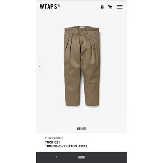 W)taps - 21SS WTAPS TUCK 02/TROUSERS/COTTON.TWILL