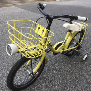 ブリヂストン(BRIDGESTONE)のブリヂストン bikke 子供用自転車 16インチ ヘルメットつき(自転車)
