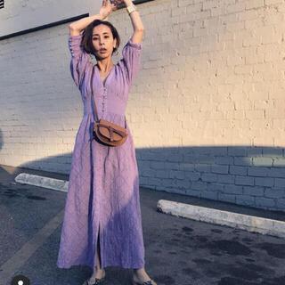 Ameri VINTAGE - Ameri MEDI CRUMPLE COTTON LACE DRESS