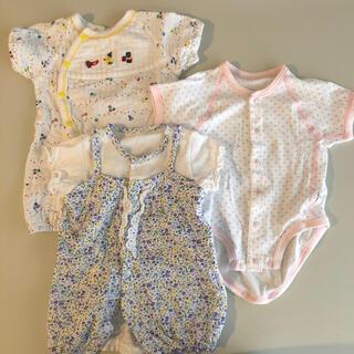アカチャンホンポ(アカチャンホンポ)の50-60サイズ 新生児服3点セット(ロンパース)