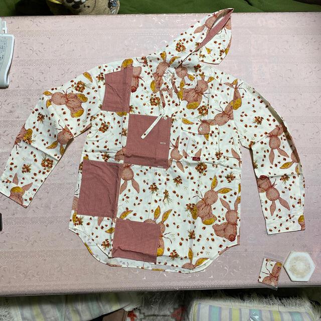 PINK HOUSE(ピンクハウス)のピンクハウス ギンガムうさぎ ブラウス レディースのトップス(シャツ/ブラウス(長袖/七分))の商品写真