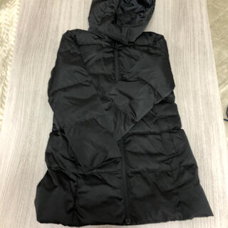 ジーユー(GU)のGU 子供ダウンコート 140 黒(コート)