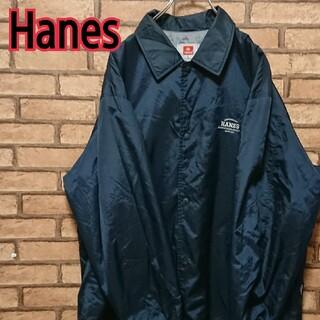 ヘインズ(Hanes)のHanes ヘインズ メンズ ワンポイント刺繍 ナイロンジャケット(ナイロンジャケット)