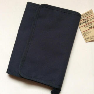 MUJI (無印良品) - タグ付新品!無印良品母子手帳入れ  小 黒 マルチケース