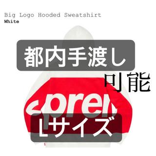 Supreme - supreme big logo hooded sweatshirt (Lサイズ