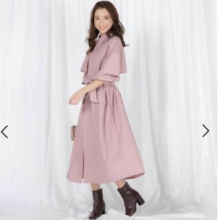 QUEENS COURT - 新品♡定価28600円!クイーンズコート トレンチコート ワンピースコート 桜色