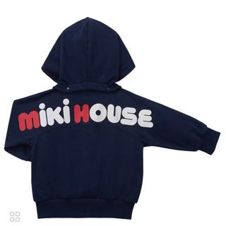 mikihouse - 【新品】ミキハウス バックロゴパーカー 100cm