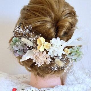 ♥再販 卒業式 結婚式 髪飾り ドライフラワー成人式