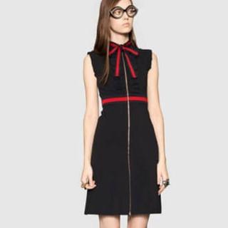 Gucci - グッチ ウェブトリムジャージードレス 黒 Sサイズ