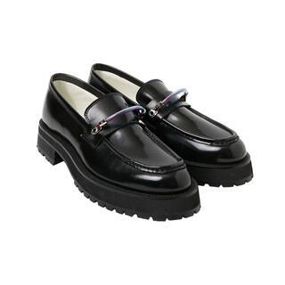 SUNSEA - Neon sign ネオンサイン ローファー ブラック 革靴